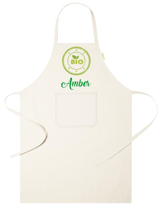 Keukenschort - Bio Logo - met voornaam