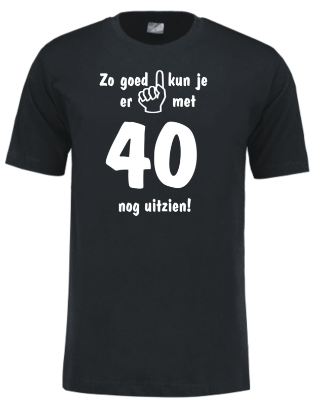 T-shirt - zwart - zo goed met 40 - unisex maat XL