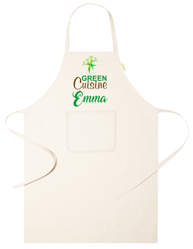 Keukenschort - Green Cuisine - voornaam