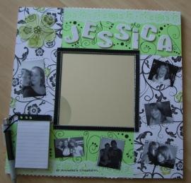 Memospiegel gemaakt voor mijn nichtje Jessica