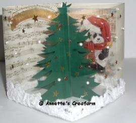 Kerst doorkijkkaart Romak