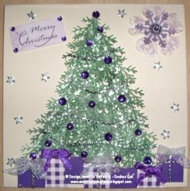 Kerstboom met een Martha Stewart pons