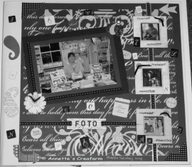 Fotoalbum zwart-wit