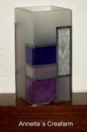 Glas in loodlamp met glasverf