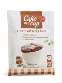 Cake in a cup chocolade & karamel