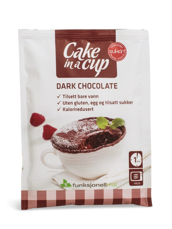 Cake in a cup chocolade