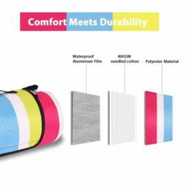 picknickkleed happy stripe XL, 200 x 200 cm
