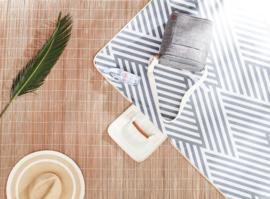 picknickkleed classic stripes grey, 130 x 170 cm