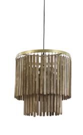 Hanglamp Ø45x43 cm GULAG hout donker bruin