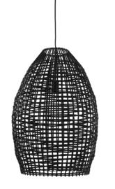 Hanglamp Ø46x69 cm OLAKI rotan zwart