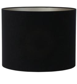 Kap cilinder 40-40-30 cm VELOURS zwart-taupe
