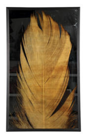 Loro Black gold banana leaf wall panel rectangle - PTMD Collection