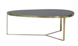 Salontafel 118x89x40 cm TURBI glas zwart-mat brons