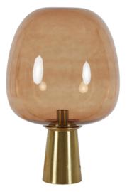 Tafellamp Ø40x59 cm MAYSONY brons+glas bruin