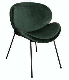 Flair Black chair velvet steel leg KD