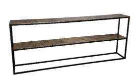 Kae Gold bijzettafel sidetable met ijzer rechthoek