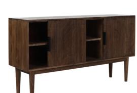 Kast 150x40x80 cm BITIKA hout donker bruin
