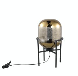 PTMD Snakey Goud tafellamp glas op metalen voet S