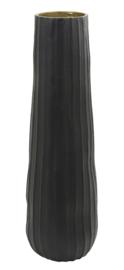 Vaas deco Ø18x59 cm SHAILA mat zwart