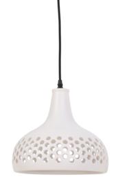 Hanglamp Ø27x24 cm MERCURIUS keramiek zacht wit
