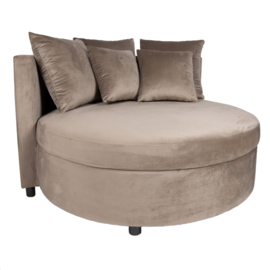 Fayen Velvet Sand fauteuil half round KD
