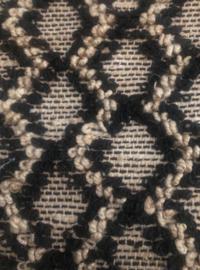 Vloerkleed naturel zwart jute ruiten Handgeweven 250x350cm