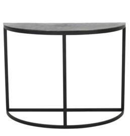 Side table 100x42x76 cm PETO ruw lood antiek