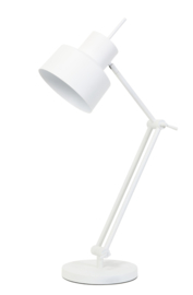 Tafellamp Ø20x75-95 cm WESLY wit