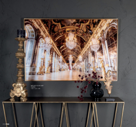 Melani Glass Art wall picture golden building