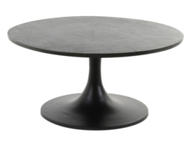 Salontafel Ø76x36 cm RICKERD antiek zwart
