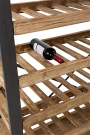 Wijnrek 50 Flessen+Glazen Hout/Metaal Naturel