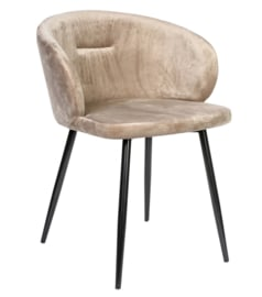 Move velvet sand chair half round metal legs -KD PTMD Collection