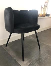 High Five Velvet Chair Black