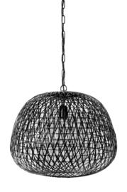 Hanglamp Ø50x44 cm ALWINA mat zwart