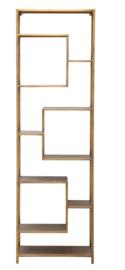 PTMD Duana Playful gold iron open cabinet high KD