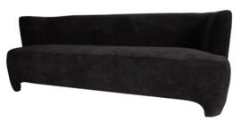 Damin Anthracite linen velvet look sofa - PTMD Collection