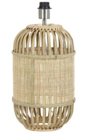 Lampvoet Ø25x40 cm ALIFIA bamboe+webbing naturel