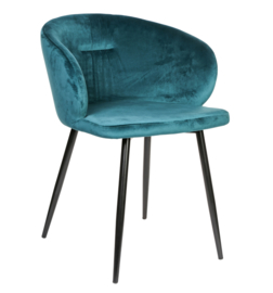 Move velvet teal chair half round metal legs -PTMD Collection