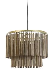 Hanglamp Ø60x43 cm GULAG hout donker bruin