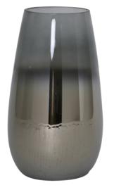 Vaas Ø23x40 cm IZEDA glas metallic grijs