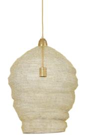 Hanglamp Ø45x60 cm NIKKI gaas licht goud