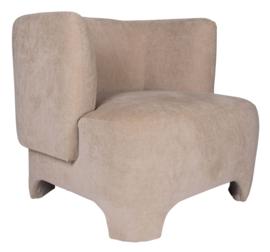 Damin Sand linen velvet look fauteuil