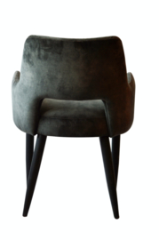 Jip dining chair with arm wood Adore 68 anthracite
