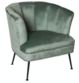 Wisse velvet chair black metal KD legs-PTMD Collection