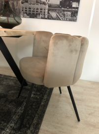 High Five Velvet Chair Sand