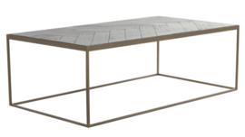 Salontafel 120x65x40 cm CHISA hout zwart-ant brons