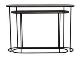 Side table S/2 max 118x28x80 cm BOCOV antiek brons-zwart