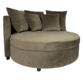Fayen Velvet Green fauteuil half round KD