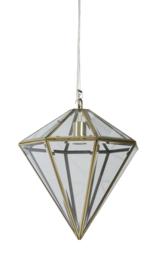 Hanglamp Ø35x37 cm XAYA brons+glas