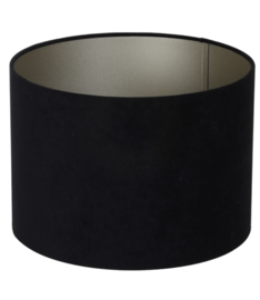 Kap cilinder 35-35-25 cm VELOURS zwart-taupe